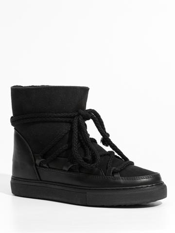 Высокие комбинированные кеды INUIKII 70202-5 Sneaker classic black на меху