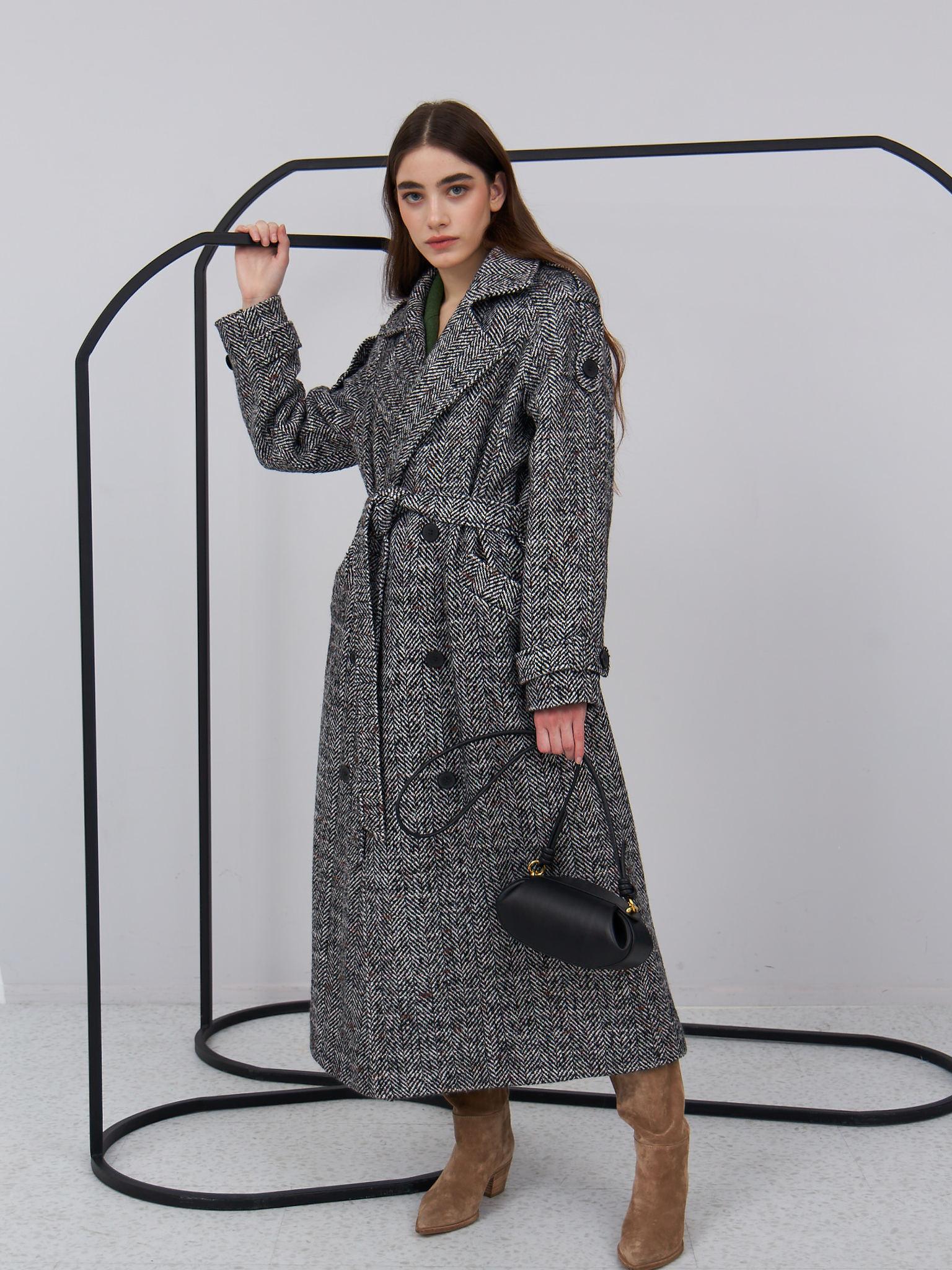 Пальто двубортное (FW0519)