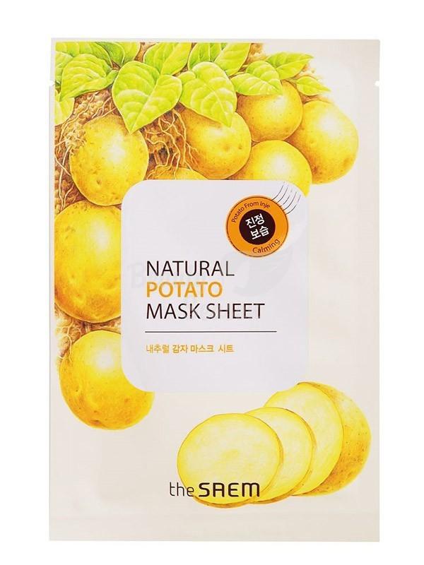 Маска тканевая с экстрактом картофеля The Saem Natural Potato Mask Sheet