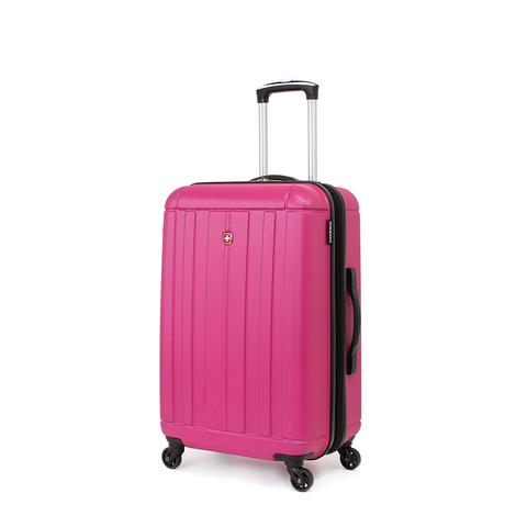 Чемодан SWISSGEAR USTER, АБС-пластик, 41x26x58 см, 62 л., цвет розовый (6297808167)