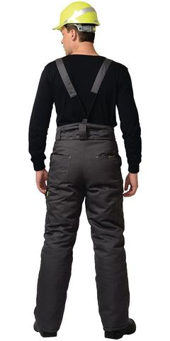 Костюм Темно-серый с черной и лимонной отд  куртка, брюки