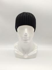 Мужская трикотажная шапка по голове, классика, черная
