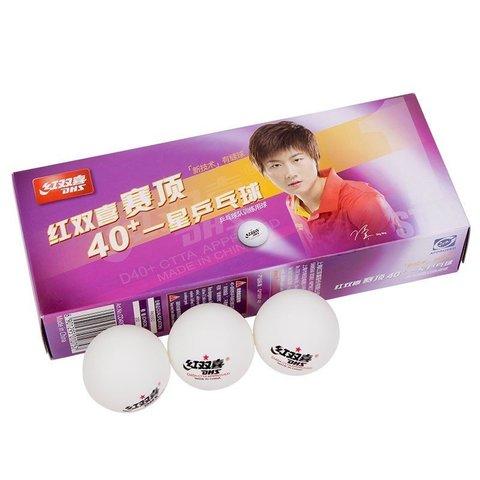 Пластиковые мячи DHS 1* D40+ (100шт)