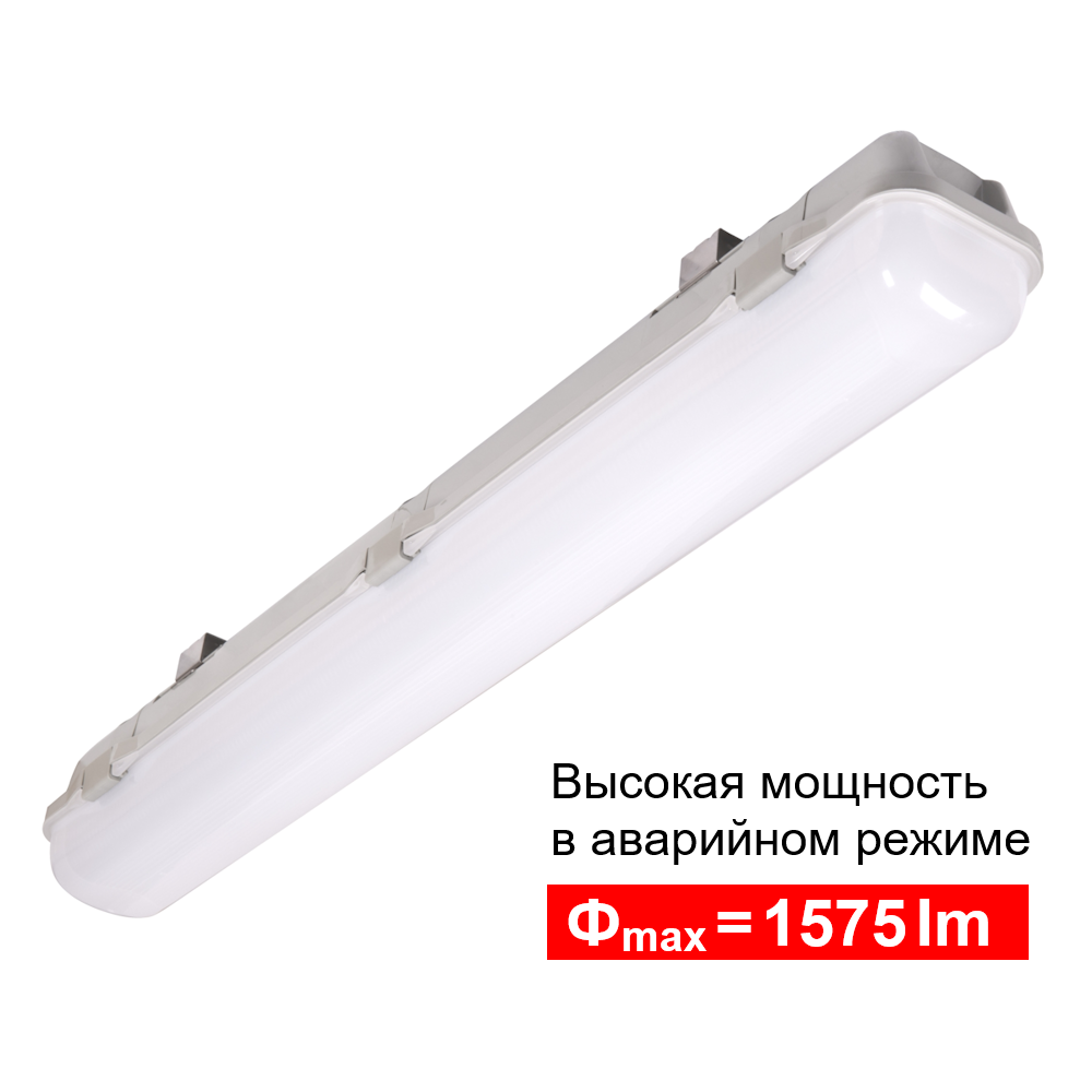 Промышленный светильник с блоком аварийного питания повышенной мощности Luvia LED HIGH OUTPUT IP65 Intelight – типоразмер 1x