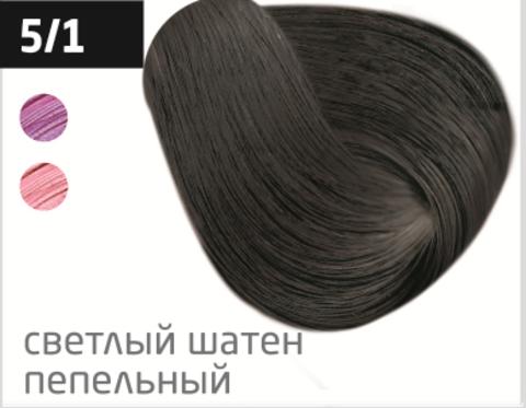 OLLIN color 5/1 светлый шатен пепельный 60мл перманентная крем-краска для волос