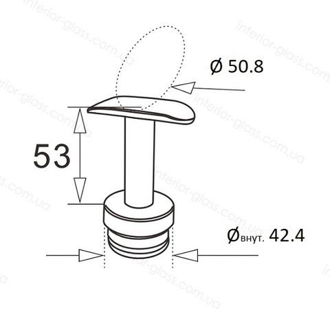 Верхний элемент стойки D=42,4 мм ST-424 с нерегулируемым ложементом