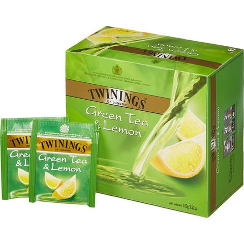 Чай Twinings зеленый с лимоном 50 пакетиков