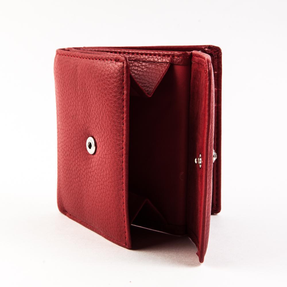 Маленький квадратный кошелёк красный женский Coscet иск.кожа CS404-108B