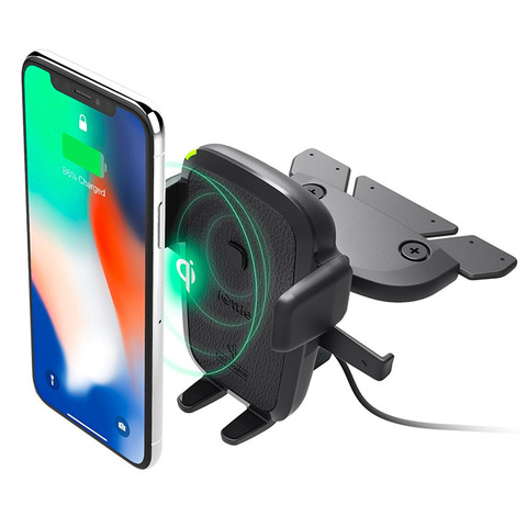 Автодержатель для телефона iOttie One Touch 4 Wireless Qi Charging CD Mount (HLCRIO136AM)