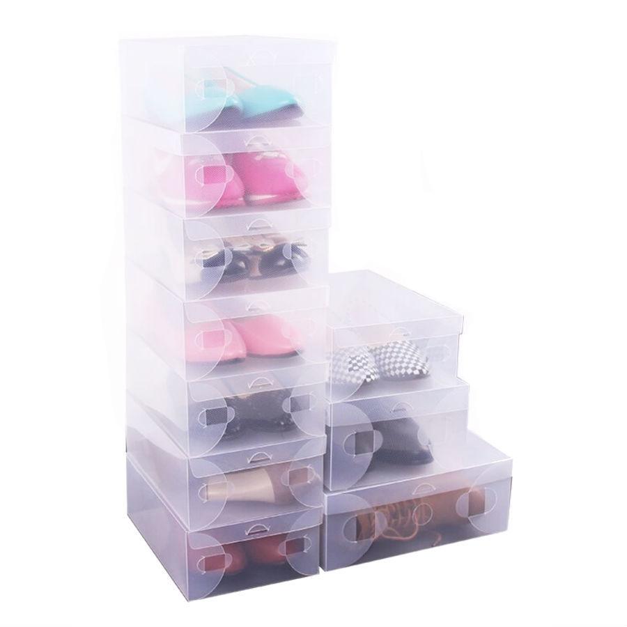 Органайзеры и кофры для одежды и обуви Пластиковая коробка для хранения обуви 27 см (5шт) plastikovaya-korobka-dlya-hraneniya-obuvi.jpg