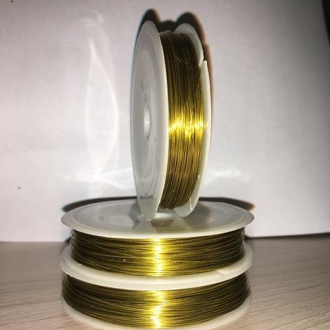 Проволока 0,4мм 25метров золото УЦЕНКА