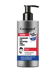 Compliment MEN'S SALON Очищающий гель для бороды, лица и волос 3 в 1