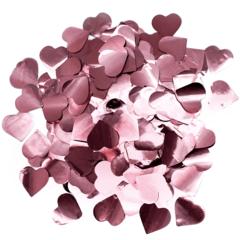 Конфетти фольга, Сердца, Розовое золото, 3 см, 50 гр, 1 уп.