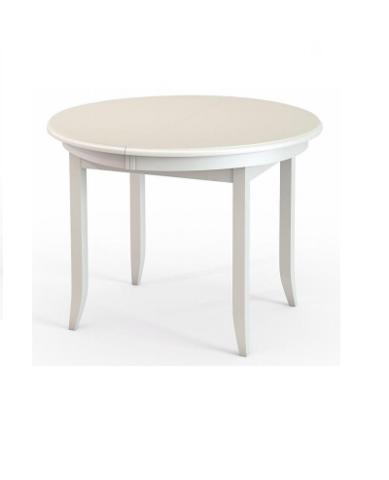 Стол обеденный Балет деревянный овальный белый