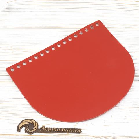"""Клапан для сумочки кожаный  """"Красный"""" 19*16 см"""