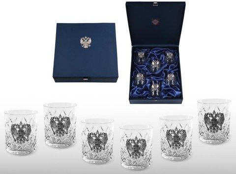 Подарочный набор хрустальных стаканов для виски Премьер