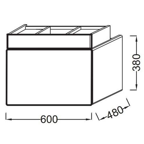Мебель под раковину Jacob Delafon Terrace 60 EB1185-G1C схема