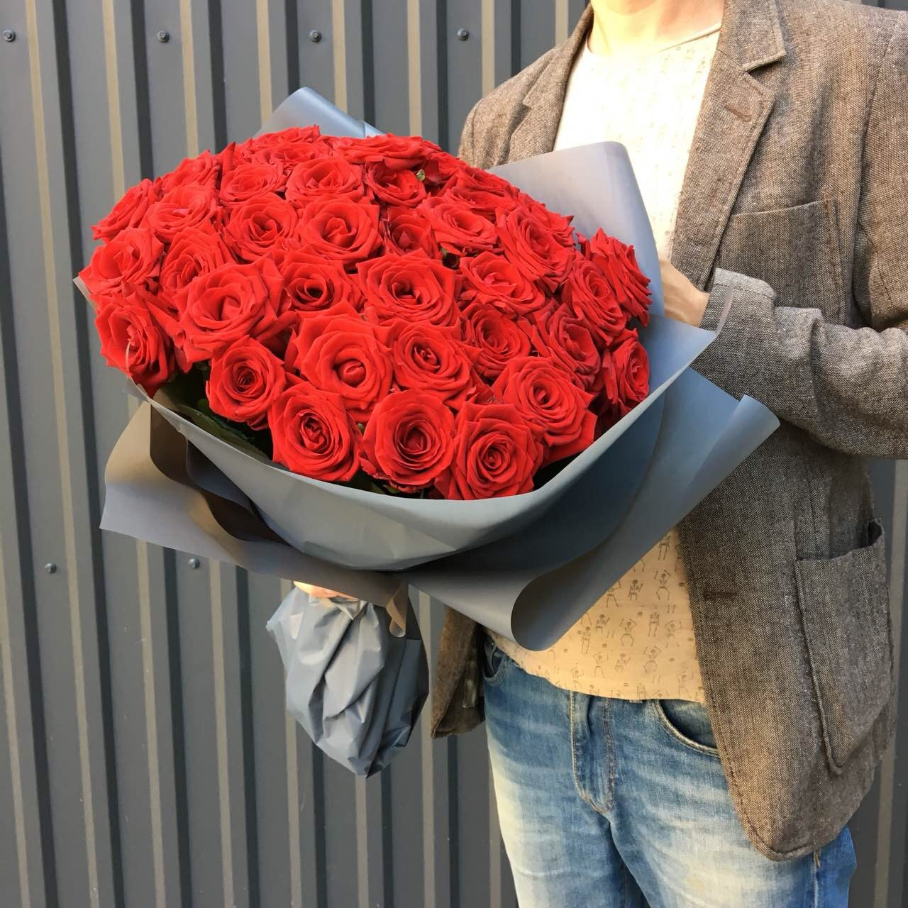 51 red rose delivery to Lviv - Kvitna - Rose Red