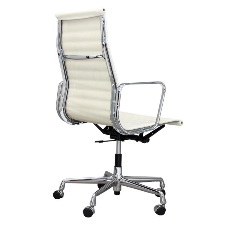 Кресло Eames Style HB Ribbed Office Chair EA 119 белая кожа - вид 2