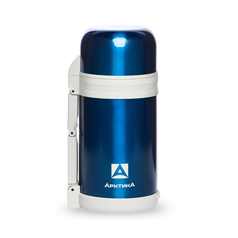 Термос универсальный (для еды и напитков) Арктика (1,2 литра) с супер-широким горлом, синий