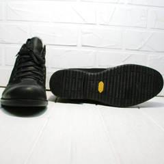 Классические зимние ботинки на толстой подошве мужские Luciano Bellini 6057-58K Black Leathers & Nubuk.