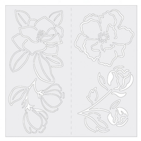 Маска (трафарет ) Jane Davenport Butterfly Effect Stencil & Washi Holder - Flowers