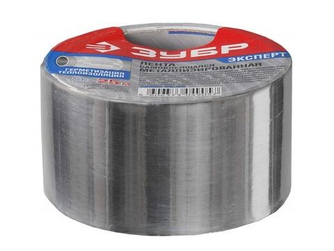 Лента клеящая металлизированная, ЗУБР 12260-50-25, 48мм х 25м