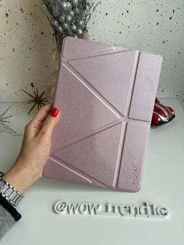 Чехол iPad PRO 12,9 (`16' 17) Origami Leather pencil groove /rose gold/