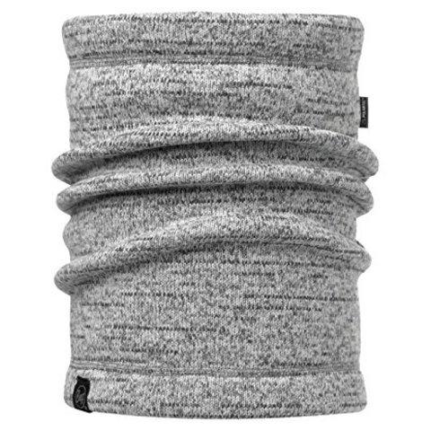 Теплый шарф-труба флисовый Buff Melange Grey фото 1