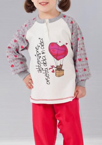 Теплая пижама из хлопка для девочек