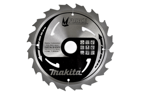 Пильный диск по дереву Makita M-FORCE 210х30х2,3 мм/16