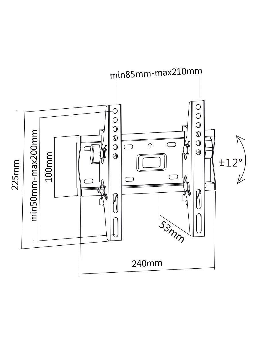 Настенный кронштейн MasterKron PLN08-22T для телевизоров