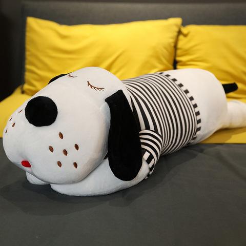 Мягкая игрушка Собака 90 см черно-белая тельняшка