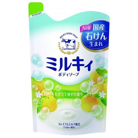 Cow Brand Milky body soap Жидкое мыло для тела с керамидами и молочными протеинами аромат цитрусовых