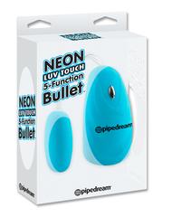 Вибропуля голубая на пульте управления Neon Luv Touch 5-Function Bullet