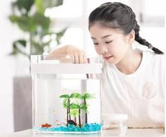 Аквариум Xiaomi Descriptive Geometry Amphibious Fish Tank (HF-JHYGQC001), белый