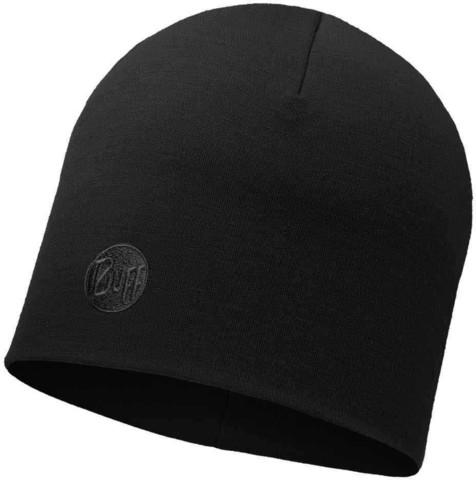 Теплая шерстяная шапка Buff Solid Black фото 1