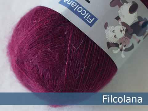 Кид мохер на шелке Filcolana Tilia 213 Fuchsia фуксия купить