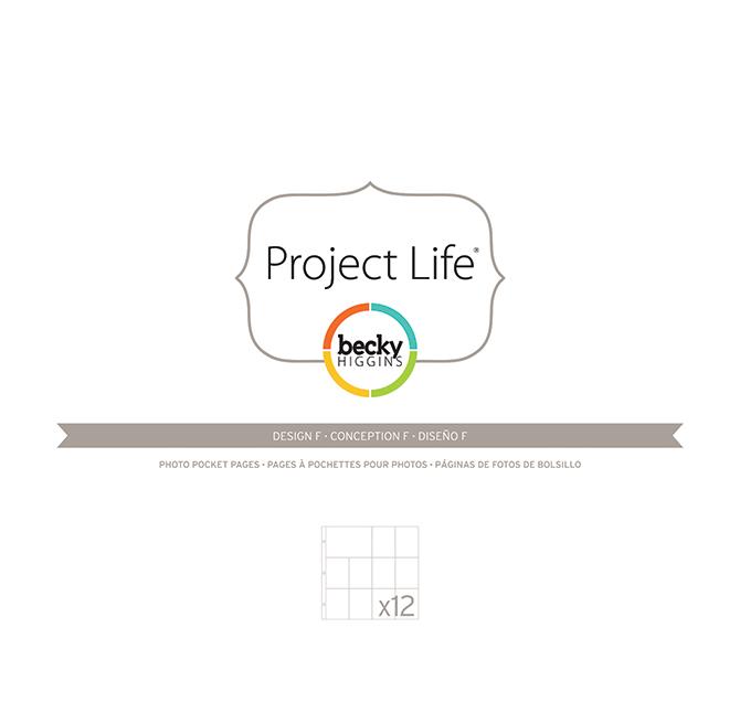 Фотофайлы Project Life-Дизайн F-штучно