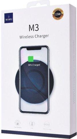 Беспроводная зарядка Wiwu M3 15W Wireless Charger /black/