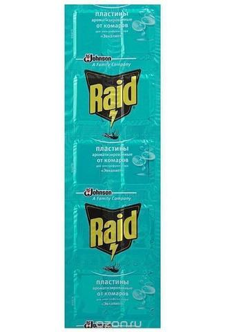 Пластины от комаров Raid Эвкалипт 10шт