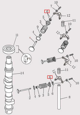 Сухарь для лодочного мотора F9.8 Sea-PRO (4-6)