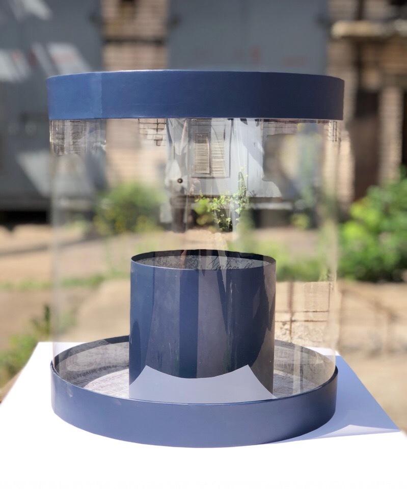 Коробка аквариум 32см Цвет :Темно синий  . Розница 750 рублей .