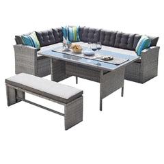 Обеденный комплект мебели плетеный под ротанг Patio Lunch