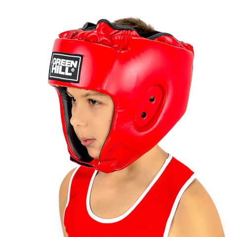 Шлем для боевого самбо Alfa HGA-4014 Green Hill красный