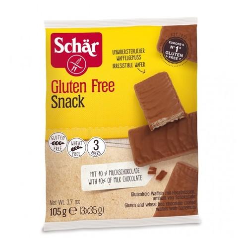 Вафли (Snack) в шоколаде с орехами (3x35)105г б/глютен Schar