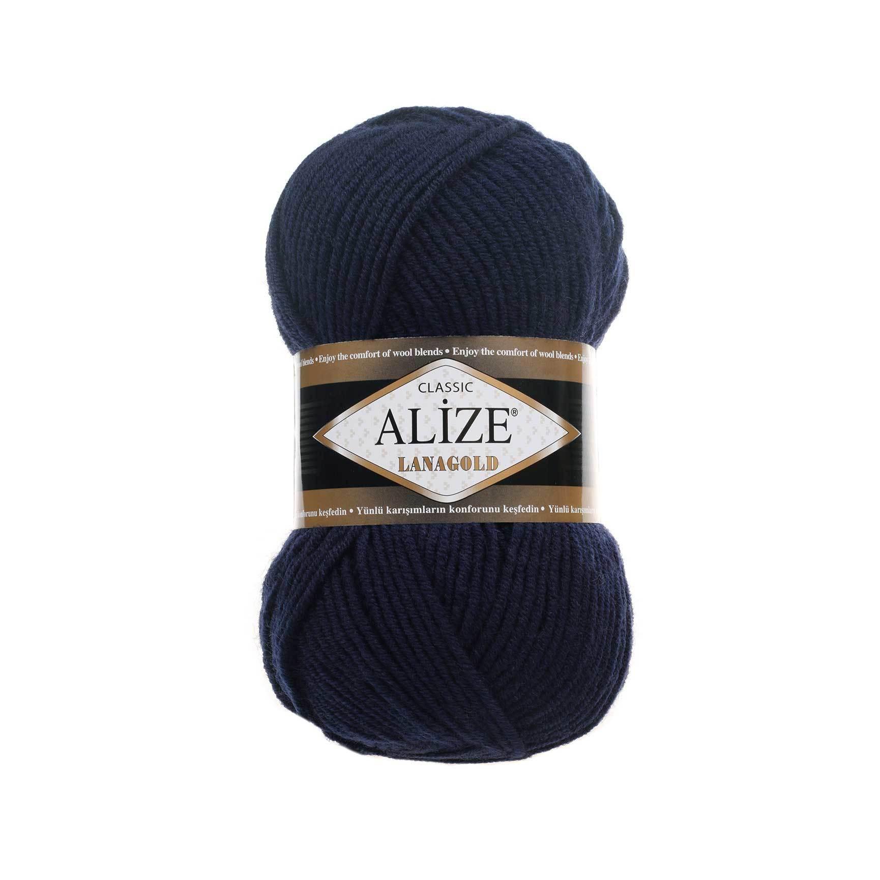 Пряжа Alize Lanagold 318 морской синий