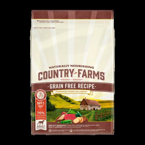 Country Farms Grain Free Recipe Сухой корм для взрослых собак, с высоким содержанием говядины беззерновой, полнорационный