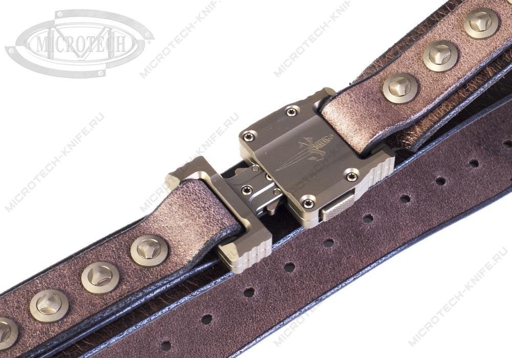 Ремень Marfione APIS Distressed Dark Brown Buffalo Titanium Bronzed - фотография