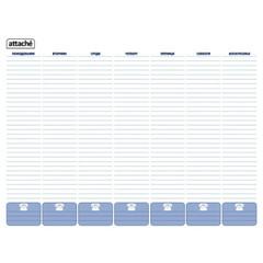 Планинг недатированный Attache картон А2 53 листа синий (575х450 мм)